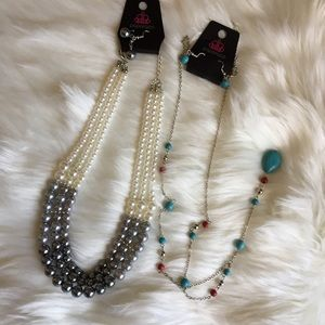 Paparazzi jewelry set of necklaces w/ earings